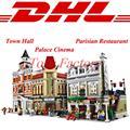 DHL LEPIN Creadores de Edificios Modulares 15003 Ayuntamiento 15006 Palacio Cine 15010 Restaurante Parisino Blocks Set Kits de Ladrillos