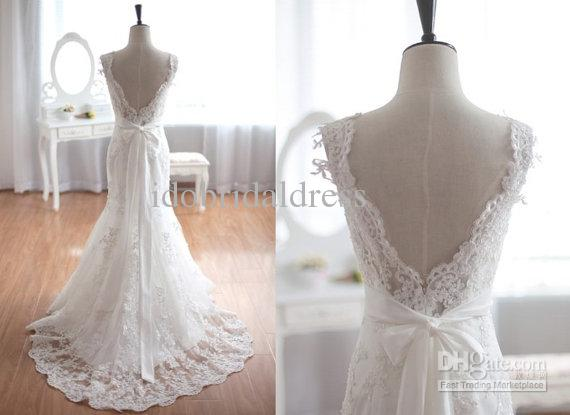2015 Vintage Inspired Tulle Lace Wedding Dress Taffeta Bridal Gown ...
