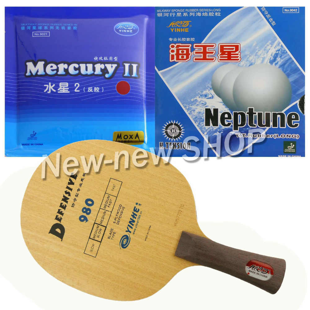 Galaxy YINHE 980 Blade with Galaxy YINHE Mercury II and Neptune Rubbers for a Racket shakehand