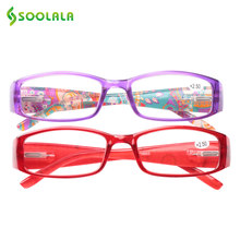 061db8daed5 SOOLALA Cheap Spring Hinge Women Men Printed Reading Glasses With Patterned  Arms Presbyopic Reading Glasses +1.0 to 4.0