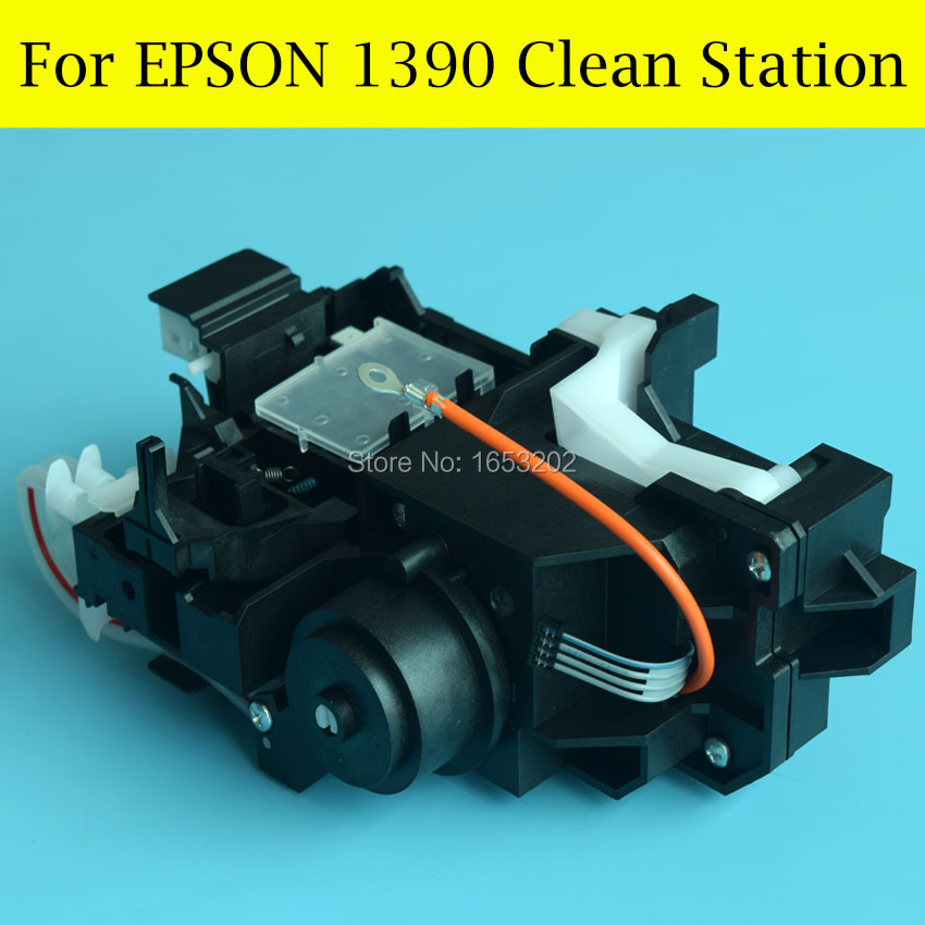 1 Set Original Cap Capping Station And Pump Assembly For EPSON 1390 Print Head cap top cap station for epson stylus 7600 9600 solvent based ink printer capping