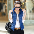 2017 Autumn and winter Women's cotton-padded down outerwear Sleeveless cotton vest Plus SIZE 3XL Slim Jacket