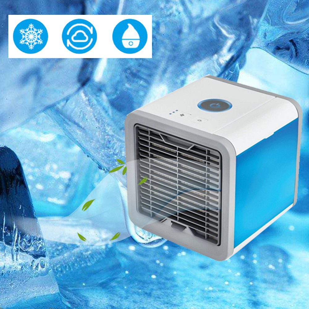 HTB1I2SgaZrrK1RjSspaq6AREXXaE USB Mini Portable Air Conditioner Humidifier Purifier 7 Colors Light Desktop Air Cooling Fan Air Cooler Fan for Office Home