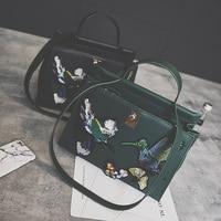 2016 Fashion Embroidery Platinum Package Vintage Handmade Embroidered Handbag Messenger Bag Big Bags