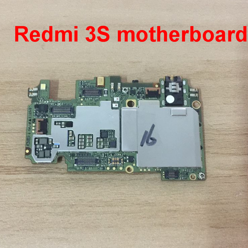 Unlocked 100% Working 16gb Board For <font><b>Xiaomi</b></font> <font><b>Redmi</b></font> 3s <font><b>3</b></font> s <font><b>Motherboard</b></font> Smartphone+ tracking number image