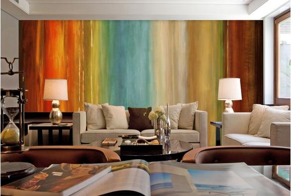 Custom 3d photo mural painting abstract American Rainbow ...