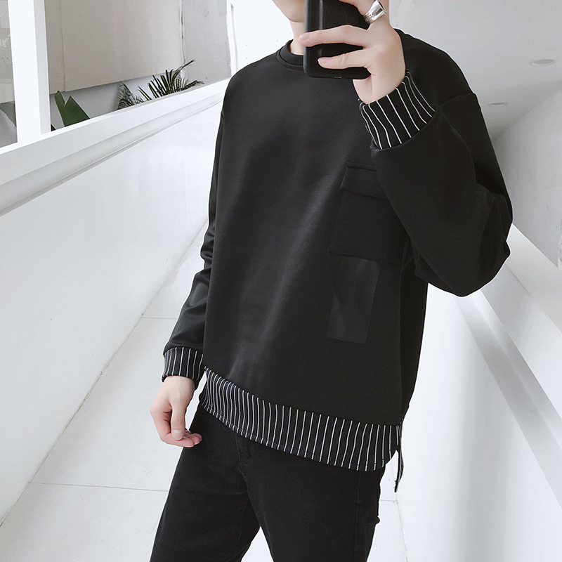2019 the spring and autumn period and the new fleece adolescent leisure fashion sets men round collar 40