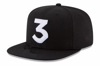 2017 Popular chance the rapper 3 Hat Cap Black Letter Embroidery Baseball Cap Hip Hop Streetwear Strapback Snapback Sun Hat Bone laptop bag