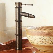 Bamboo Mixer torneiras único punho estilo clássico europeu antigo Torneira da Bacia Torneira Bacia de banho quente e fria torneiras RB1042