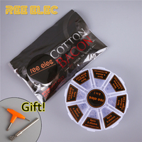8 In 1 Prebuild Coils Kit Cotton Bacon RDA RTA Atomizer Accessories Kit For Electronic Cigarette