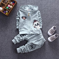 2016 Autumn New Korean Children's Clothing Boys and Girls Fashion Two-piece Long-sleeved Infant Little Monkey Suit Free Shipping