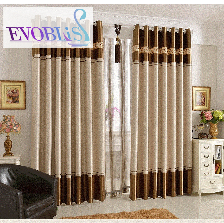 Upscale full blackout curtains modern minimalist custom - Latest curtain design for living room ...