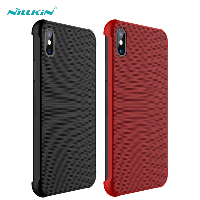 quality design 9d393 ce2ff US $18.15 |Nillkin New 9H Tempered Glass Hard Case for iPhone X Car Magnet  Back Cover Phone Bag Mobile Case Protector Ultra Thin Shell-in Half-wrapped  ...