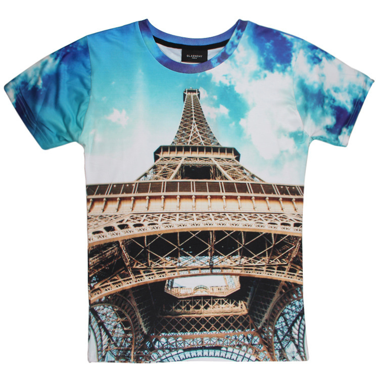 US $14 0 |The new fashion men's T shirt The Eiffel Tower design 3 dt t  shirt men-in T-Shirts from Men's Clothing on Aliexpress com | Alibaba Group