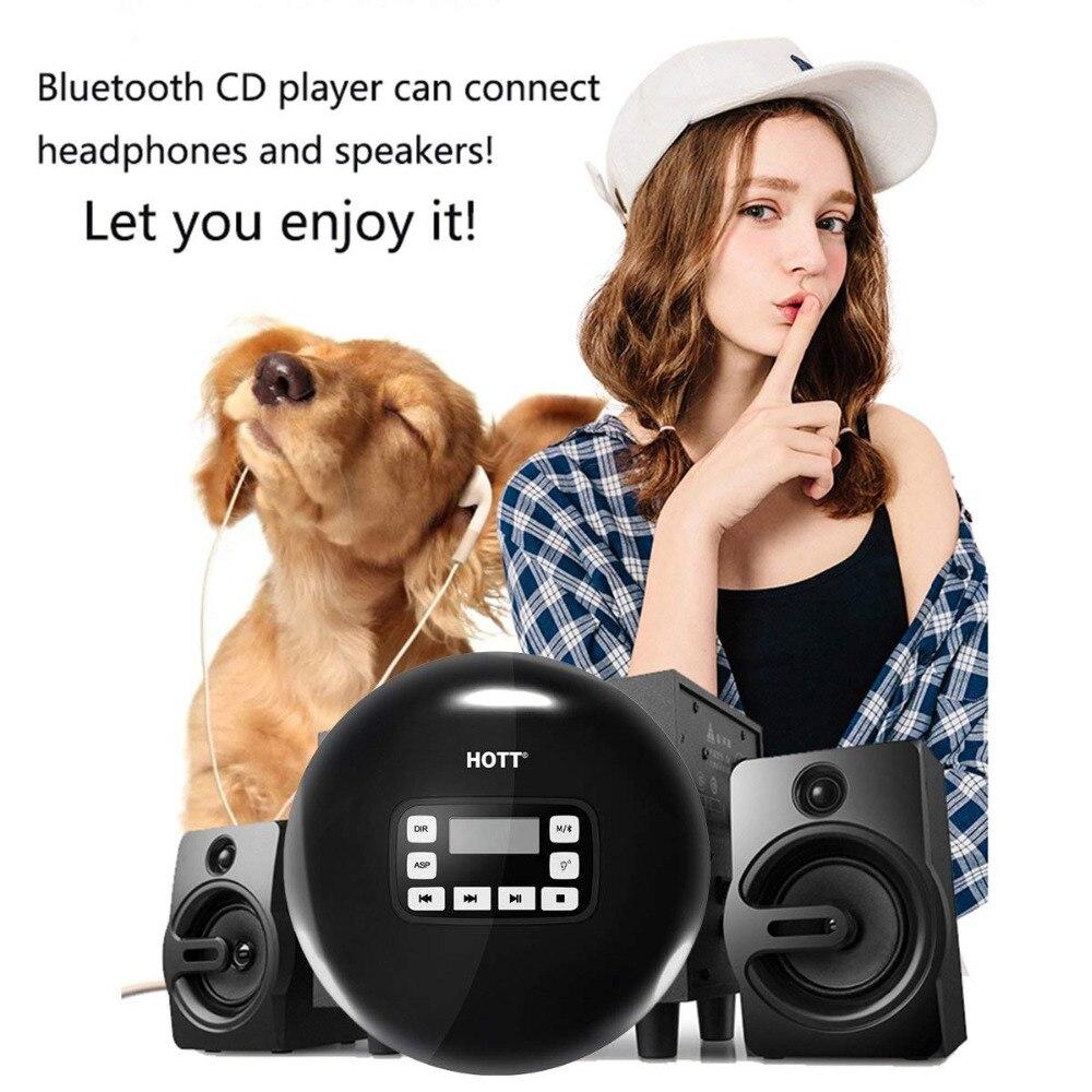 Lecteur CD Portable Bluetooth, petit lecteur CD baladeur avec affichage LED, Anti saut/antichoc, lecteur de musique à disque Compact personnel-in CD Lecteur from Electronique    3