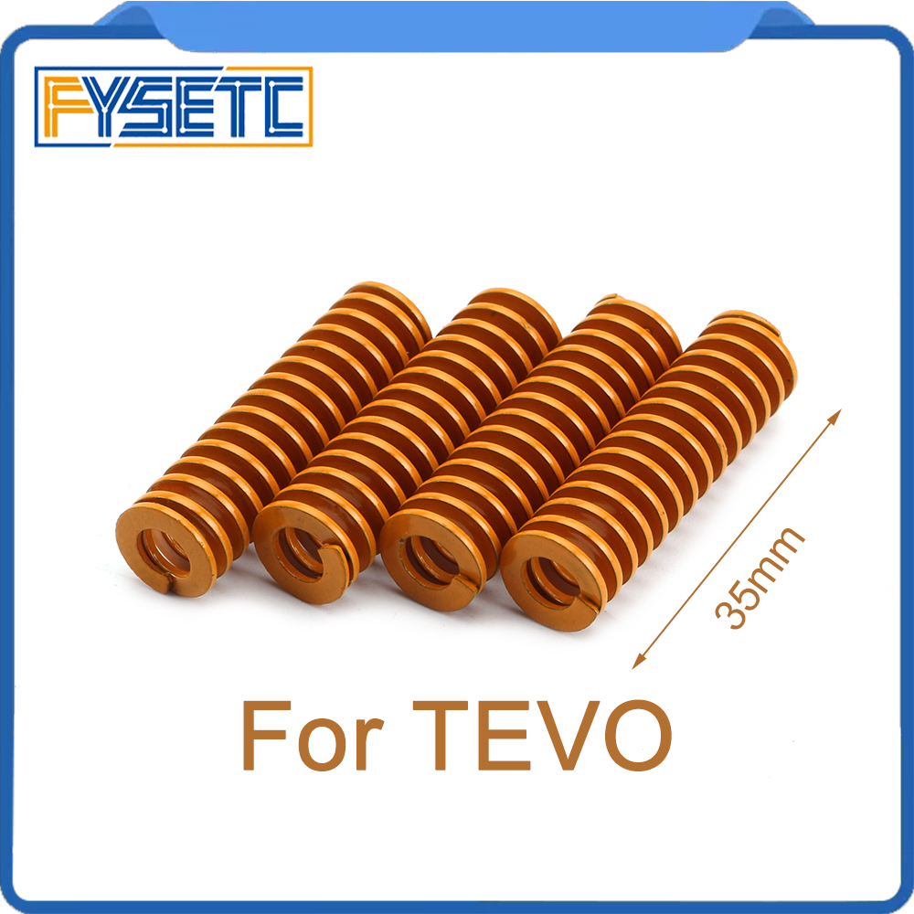 3D Printer Parts Spring Imported Length 35mm OD 10mm High Elasticity For Heated Bed TEVO Tarantula Series 3D Printer