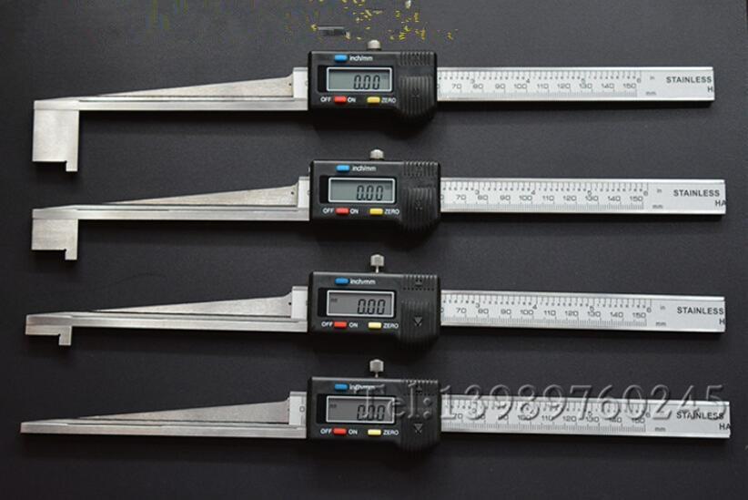 Digital para o Poder o Uso de Plantas de Vernier Caliper sem Bateria Cunha Feeler Medidor Eletrônico 0.2-10mm – 20mm 30mm 40mm