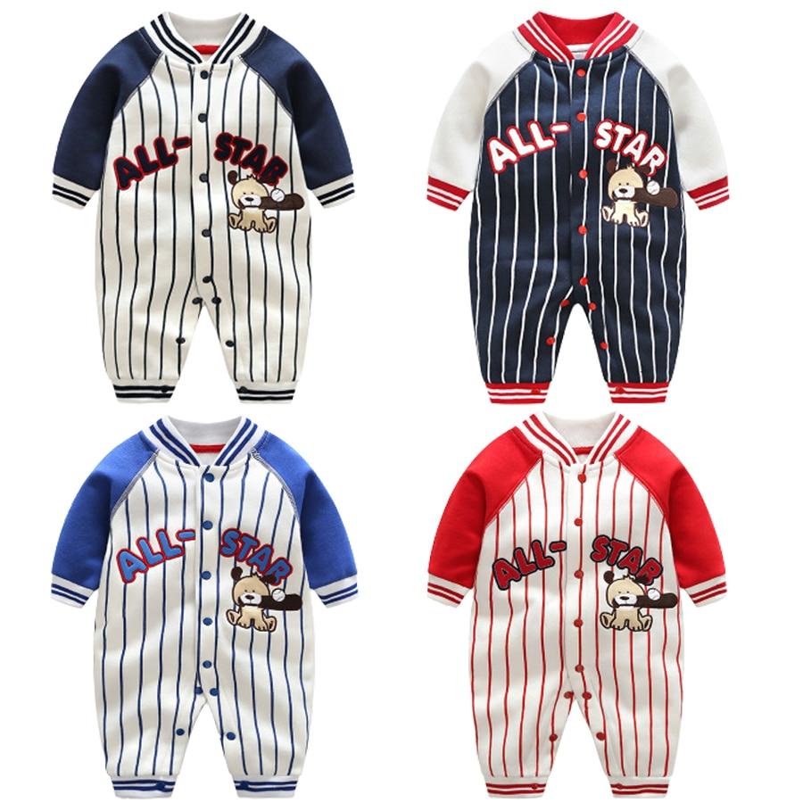 Newborn Baby Boy Clothes Newborn Baby Boy Rompers Baseball Autumn Long Sleeves Ropa Bebe Roupa De Bebes Menino Recem Nascido