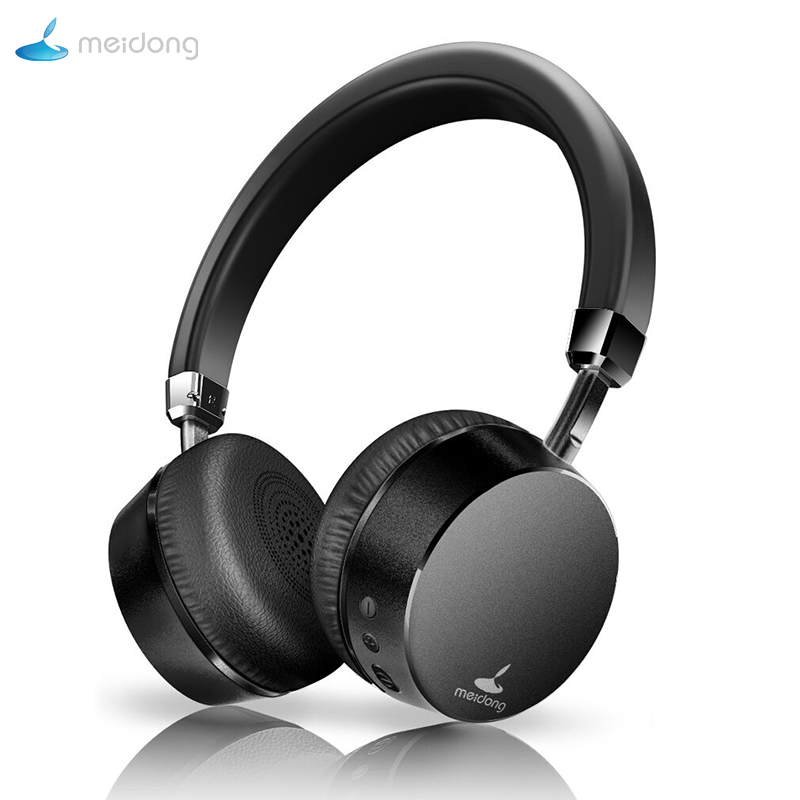 Meidong E6 Active Noise Cancelling Bluetooth Headphones Wireless Bluetooth Headset With Microphone For Phone Deep Bass Headphone