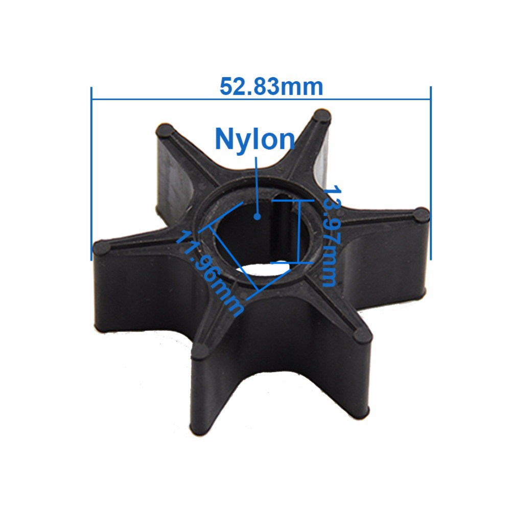 CARBOLE Boat Outboard Motors Water Pump Impeller For YAMAHA  68T-44352-00 18-8910  CEF 500368 9-45614