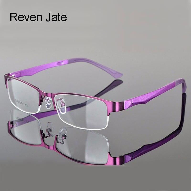 Reven Jate medio montura de gafas de prescripción óptica Semi-Rim montura de gafas para mujeres gafas de mujer Armacao Oculos