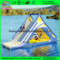 Novo design slide inflável praia de água hermético PVC corrediça de água inflável flutuante para Crianças/Adultos