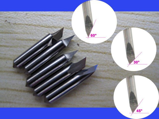 5pcs 30 degree blades for ioline sign vinyl cutting plotter high quality lettering knife carving machine tool