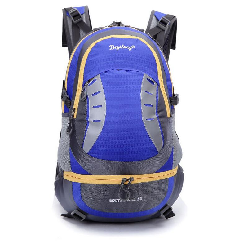 Outdoor camping backpack mountaineering sports men and women travel bag Waterproof Rucksack Hiking Backpack 30L 7 color