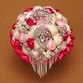 Новое поступление 2016 индивидуальные свадебное YIYI букет с перл из бисера брошь нью-романтический свадебный красочные невеста букет WD006