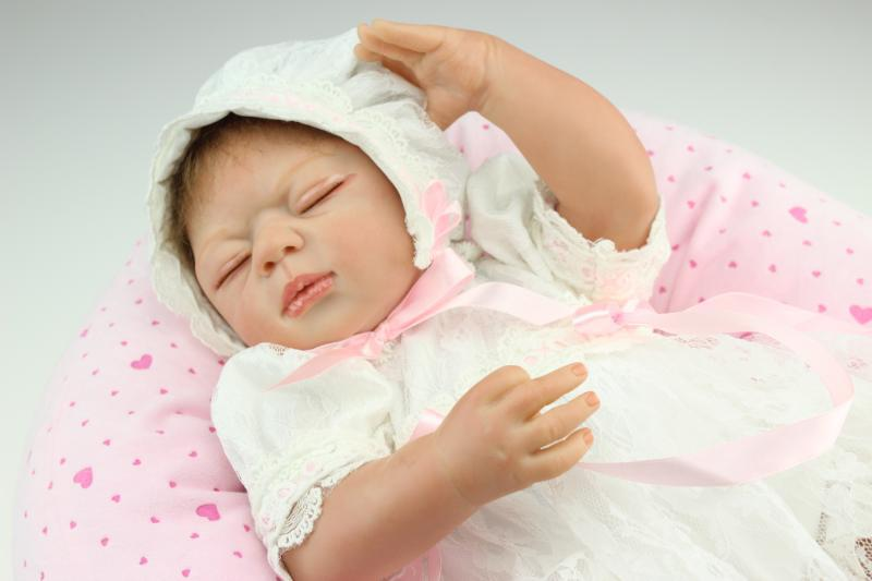 50 CM silicone reborn bébés poupées réaliste nouveau-né bébé bonecas brinquedos meninas cadeau de noël enfants cadeaux d'anniversaire