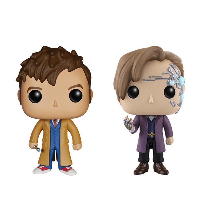 NEW 10cm Doctor Who tenth Doctor Eleventh Doctor action figure big Bobble Head Q Edition no box for Car Decoration потолочный светильник sonex kusta 118 k