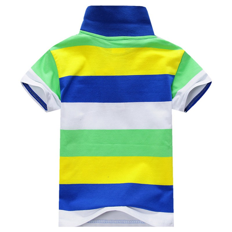 6-Colors-Children-T-Shirt-Baby-Boys-Multi-Color-Short-Sleeve-Striped-Cotton-Tops-Blouse-1