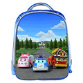 New Cute Cartoon Poli 13 Inch Blue Backpack School Bags For Little Cute Kids Bag Child School Backpack For Baby Best Gifts