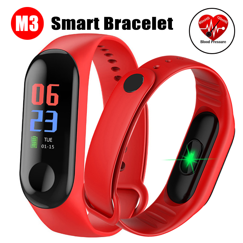 M3 Fitness Smart Bracelet Blood Pressure & Heart Rate Monitor Colorful Touch Screen Smart Band Wristband Step CounterM3 Fitness Smart Bracelet Blood Pressure & Heart Rate Monitor Colorful Touch Screen Smart Band Wristband Step Counter