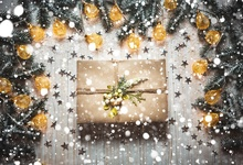 Laeacco Wooden Board Christmas Light Bokeh Gifts Baby Photography Backgrounds Customized Photographic Backdrop For Photo Studio