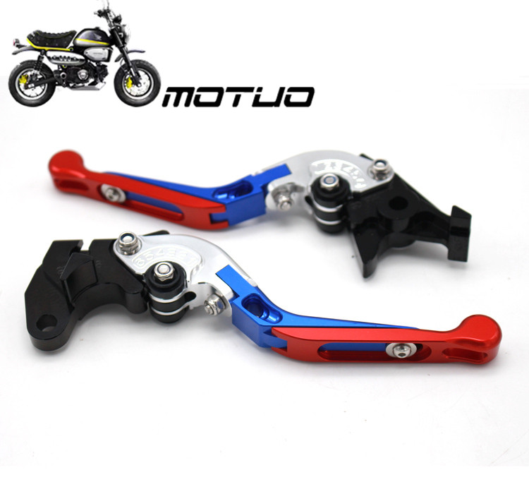 Laser Logo CNC Folding Extendable Motorcycle Brake Clutch Levers For SUZUKI GSXR 600 GSXR 750 GSXR600 GSXR 750 2004 2005 in Covers Ornamental Mouldings from Automobiles Motorcycles