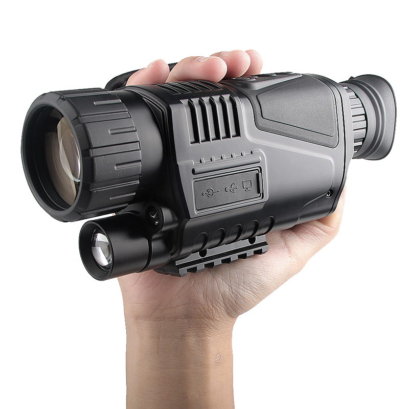 IR Digital Night Vision Monocular Scope Infrared Recording Telescope 5X 5MP Digital Camera Take Video Photo or Picture 29-0003 boblov digital nv100 night vision device scope monocular ir telescope video dvr lcd screen 4gb tf card 2x wildlife night hunting