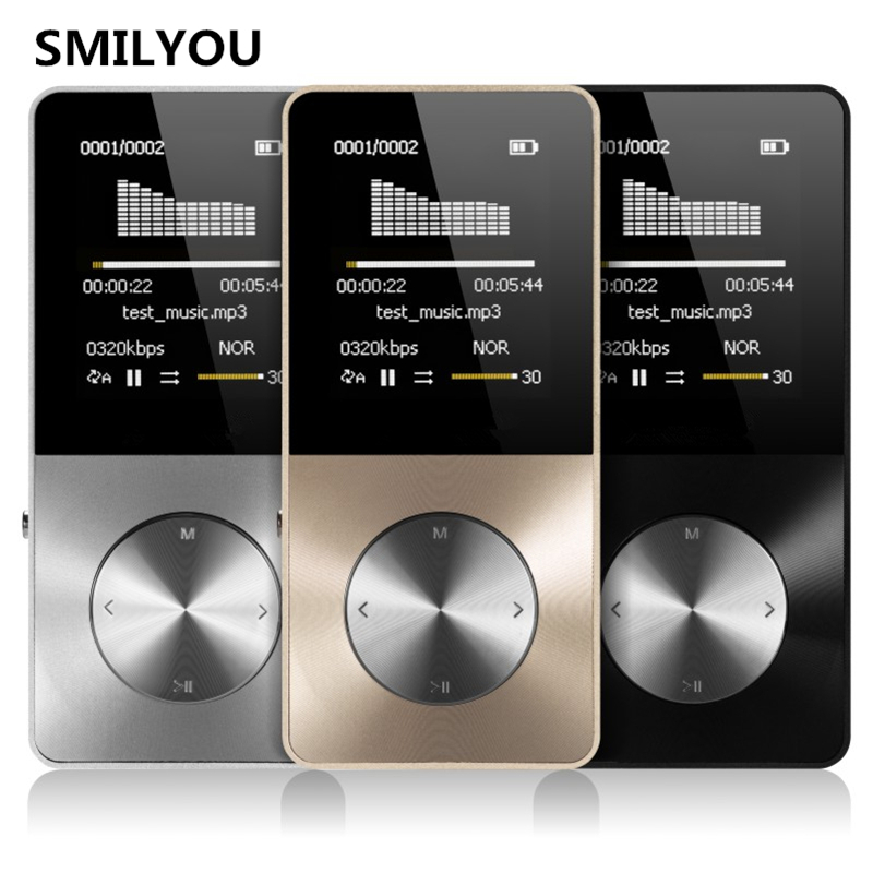 цена на SMILYOU HiFi Metal MP4 Player Built-in Speaker 4GB 8GB 1.8 Inch Screen can Support SD Card with Video Alarm FM Radio E-Book