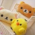 Cute Rilakkuma Yello Chicken Plush Toys Stuffed Soft Cartoon Toy Warming hands in Winter Gifts for Girls Christmas Gifts