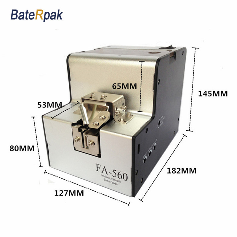 FA-560 BateRpak Precision automatic screw feeder,screw feeder,automatic screw dispenser,Screw arrangement machine 2pcs precision automatic screw feeder automatic screw dispenser screw arrangement machine with counting function screw counter