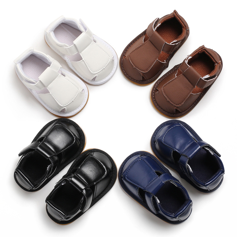 2019 Summer New Toddler Shoes 0 1 Years Old Men And Women Baby Rubber Sole Casual Baby Shoes Hollow Double Velcro Toddler Shoes