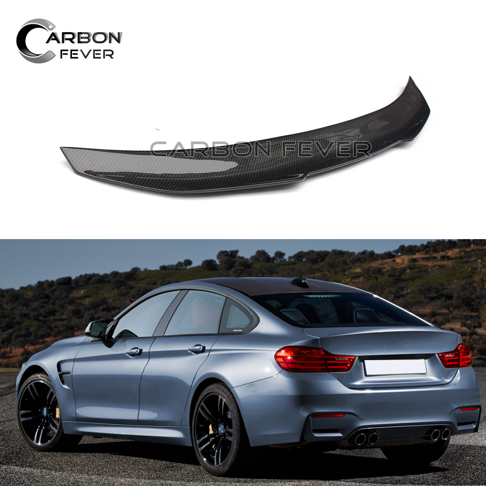 Eppar New Carbon Fiber Rear Spoiler for BMW 4 Series Gran Coupe F36 Sedan 2014-2017 420i 428i 435i M4 Style
