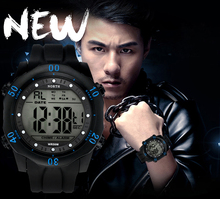 2017 Military Watch Men Waterproof Sport Watch For Mens Watches Top Brand Luxury Clock LED display relogio masculino North