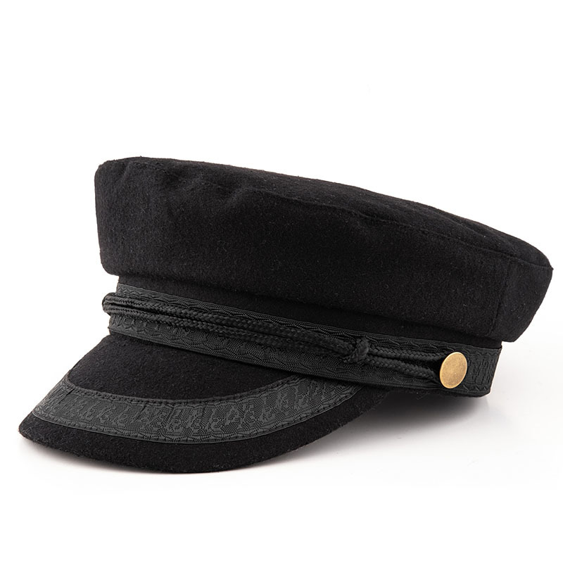 Large Size Navy Cap Small Head Flat Hat Felt Army Hat Big Bone Men Wool Plus Sizes Military Caps 52-55cm 55-57cm 58-60cm 60-63cm