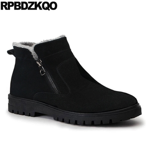 Image 5 - Male Snow Zipper 2017 Plus Size Ankle Winter Mens Boots Warm Black Shoes Fashion Comfortable Short High Top Footwear