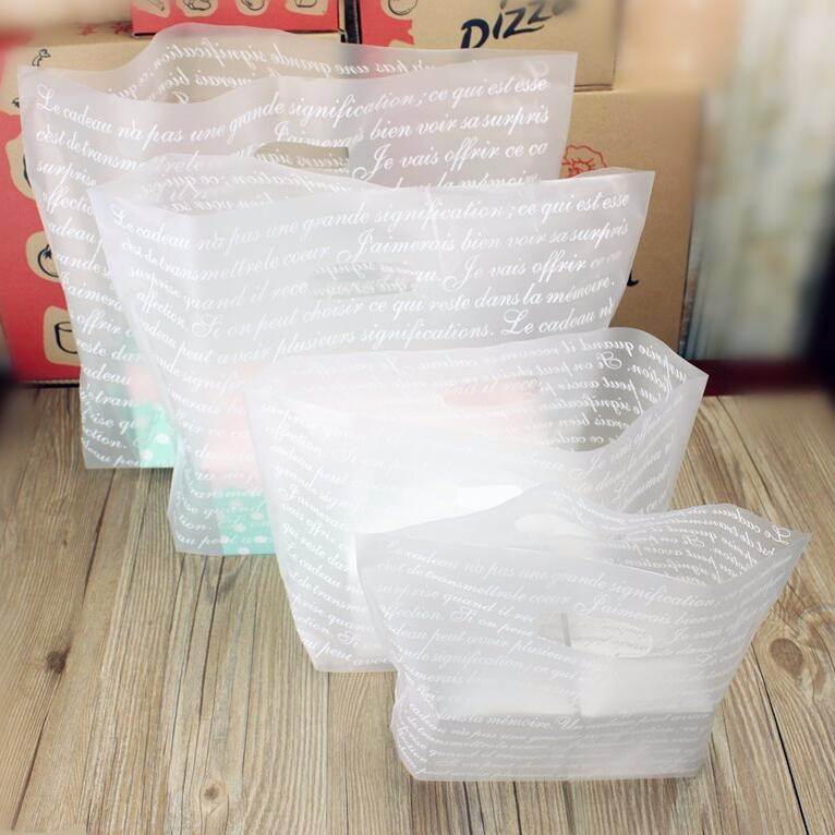 2 7 Alice, Matte Clear Plastic Gift Bags With Handles ...