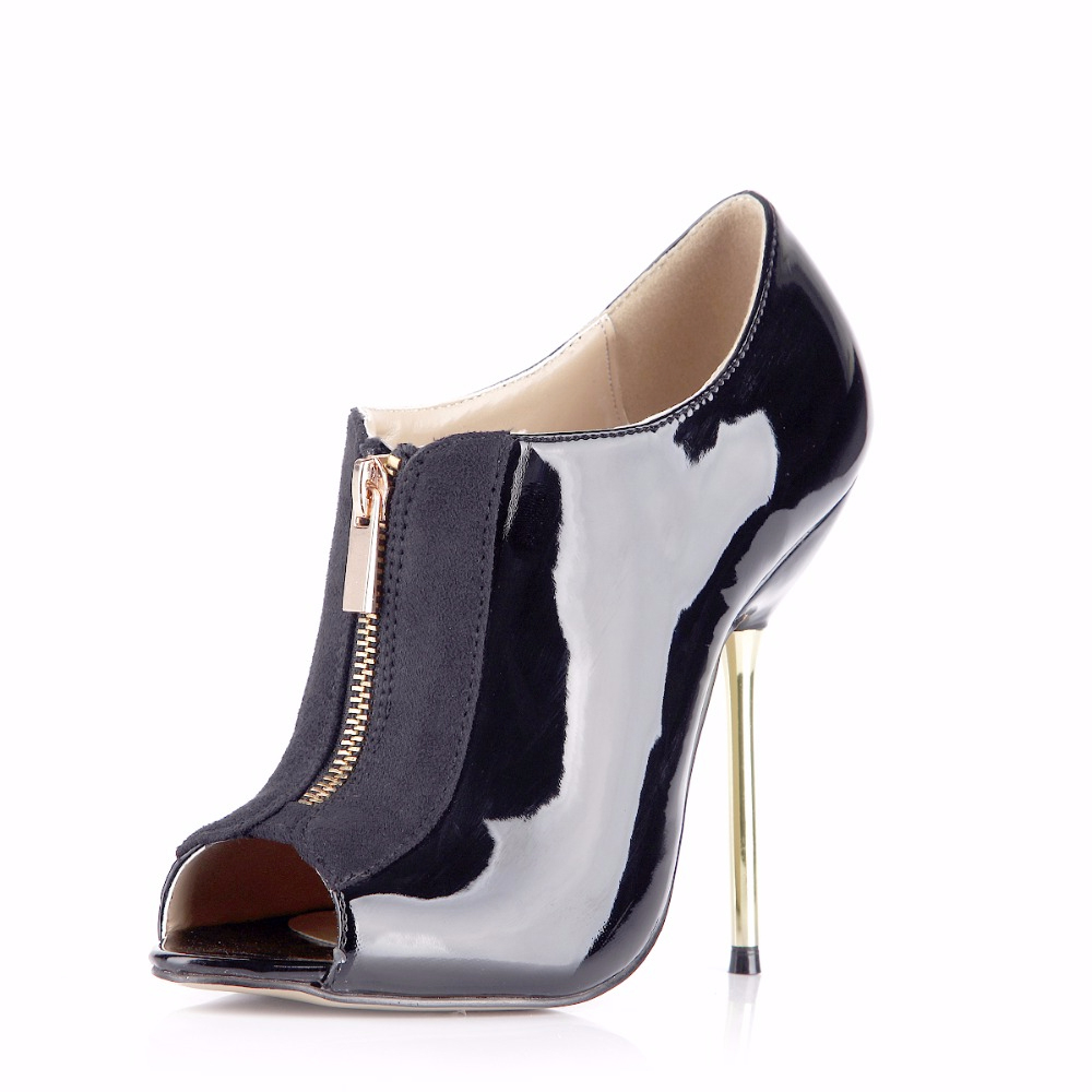 Fashion New Style Open Peep Toe Big Plus Size Zipper Stiletto Heels Sexy Female High Heel Shoes For Women Mujer Pumps 3845 h2 in Women 39 s Pumps from Shoes