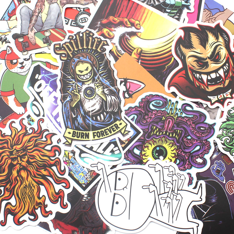 100 Pcs Unique Car Styling Decal Stickers For Snowboard Motorcycle Bike Laptop No Repeating Waterproof Stickers Accessories