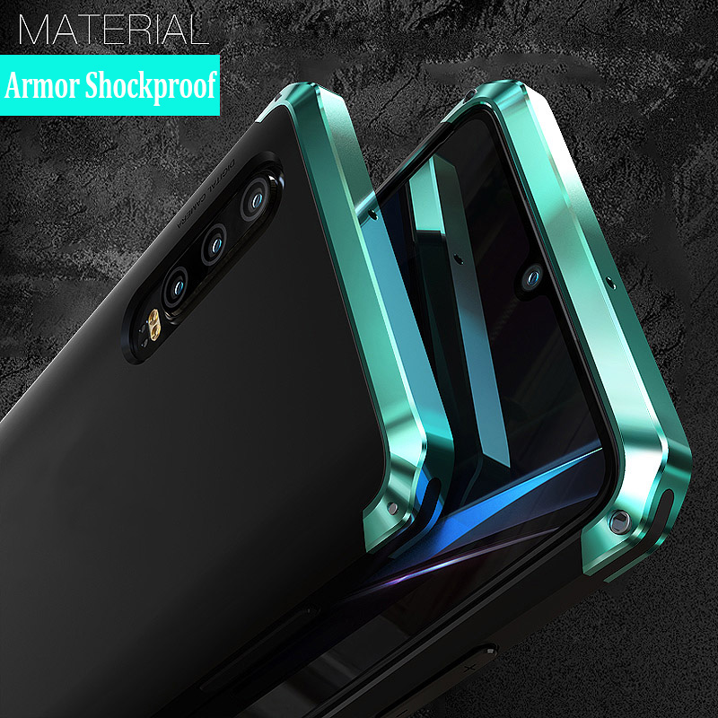 For Huawei P30 PRO Case Hard Plastics Luxury Armor Shockproof Metal Frame Hybrid Phone Cover for
