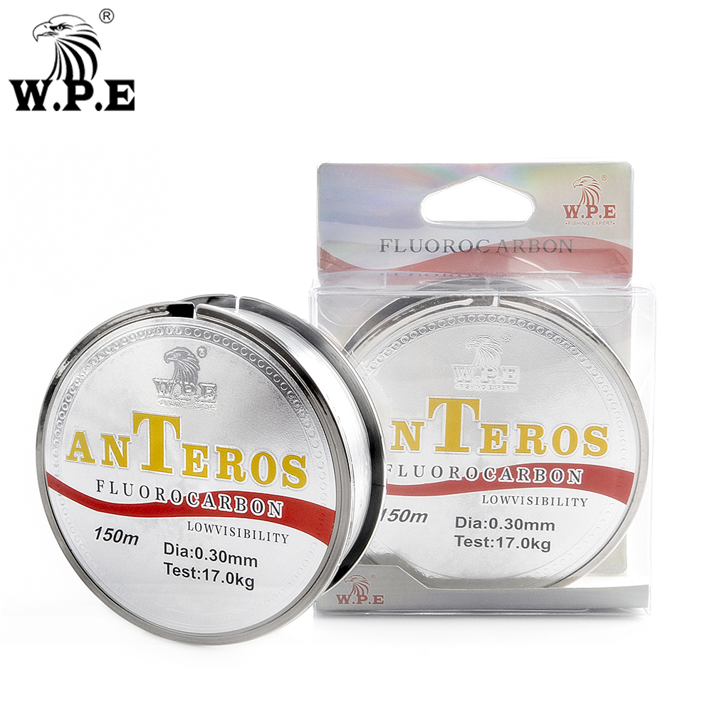 W.P.E Brand ANTEROS 150m Fluorocarbon Coating Fishing Line 0.20mm-0.60mm 10kg-41kg Fishing Line Carbon Fiber for Carp Fishing Леска